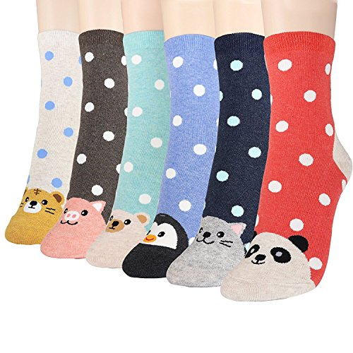 Womens Best Socks Collection | Novelty Crazy Cute Lovely Animal Character Design | Secret Santa Present | Good for Gift Under $20 | One Size Fits All (Double Animal)
