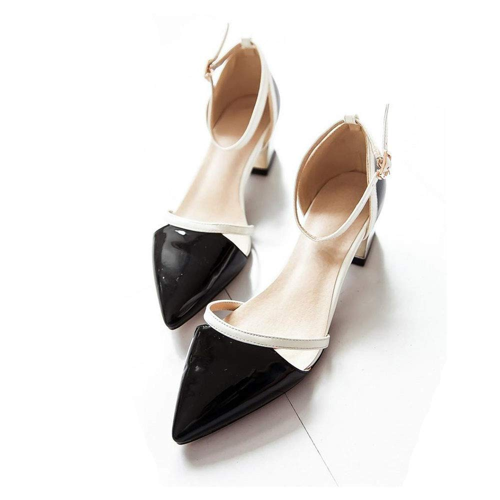 Black Heels Pointed Toe Party Prom Black White Pink Women Sandals shoes Women