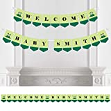 Custom Twins Two Peas in a Pod Caucasian - Personalized Baby Shower Bunting Banner & Decorations - Welcome Baby Custom Name Banner