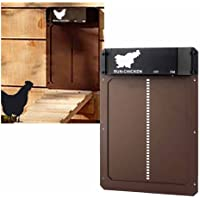 LNIBA Elektrische kippenhok, automatische kippenhok met lichtsensor, lichtgevoelig, automatische kippenhok, deuropener…