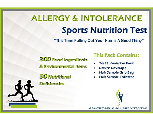 Affordable Allergy Test | Sports Nutritional Performance Test Kit for Athletes | Vitamin and Mineral Deficiencies | Over 350 Food, Environmental and Nutrition Items Tested | 1 Pack by Affordable Allergy Test