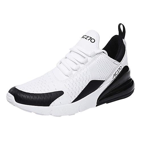 LILIGOD Herren Mode Mesh Turnschuhe Flat Running Schuhe Freizeit Athletic rutschfeste Leichte Turnschuhe Lace Up Bequem Atmungsaktiv Laufschuhe