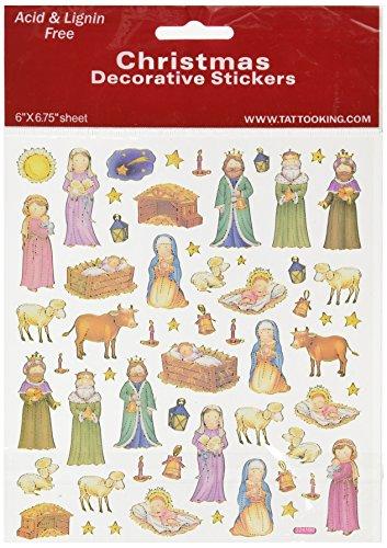 Multi-Colored Stickers-Nativity (Nativity Stickers)