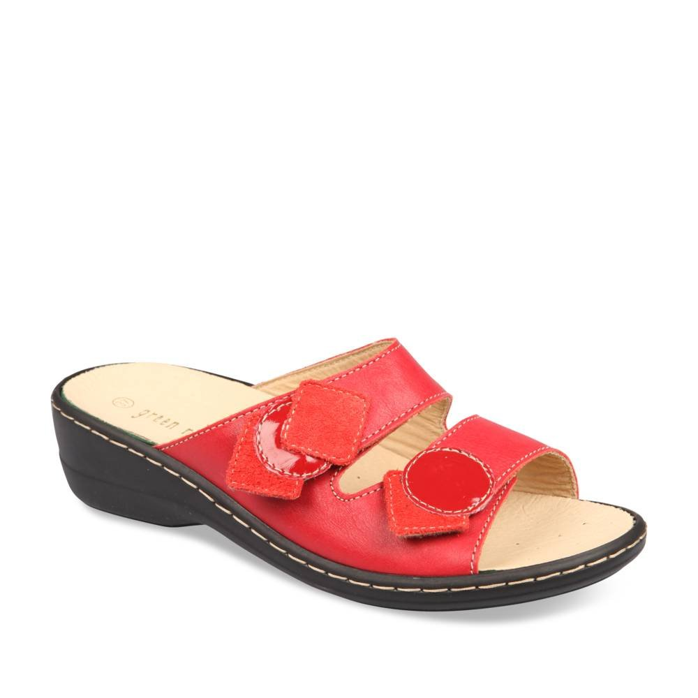 nouveau style 03598 944a8 Mules and clogs RED GREEN RELAX: Amazon.co.uk: Shoes & Bags