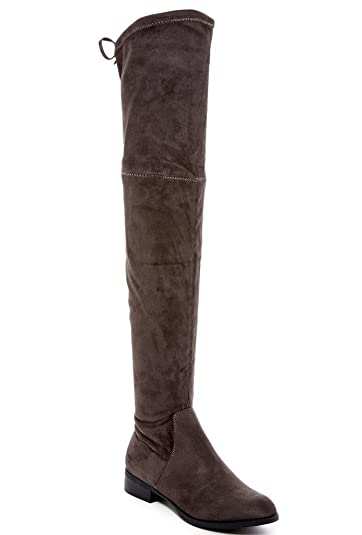 cd3bc56a719 CATHERINE CATHERINE MALANDRINO Morcha Womens Fashion Faux Fur-Lined Over -The-Knee Boots