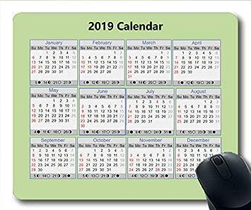 Yanteng Calendario 2019-2020, Calendario del Mouse, Calendario ...