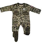 TC U.S. Air Force Baby Boys Abu Camo Crawler With Recruit Boots (6-9 Months)