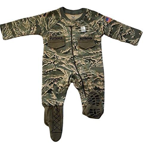- TC U.S. Air Force Baby Boys ABU Camo Crawler with Recruit Boots (0-3 Months)
