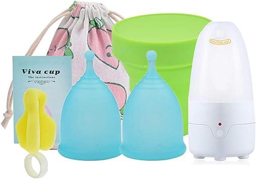Set de copas menstruales con sistema de limpieza a vapor, set ...