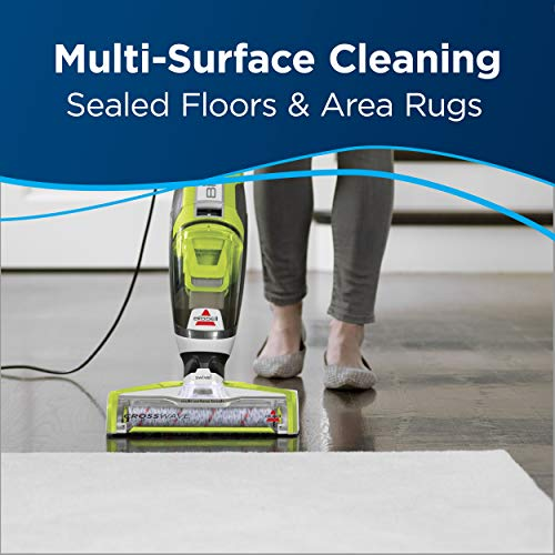 BISSELL Crosswave All in One Wet Dry Vacuum Cleaner and Mop for Hard Floors and Area Rugs, 1785A, Green