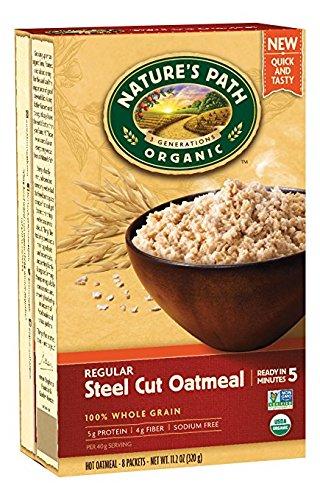 Nature's Path Organic Hot Oatmeal, Regular Steel Cut, 11.2 Ounce (Pack of ()
