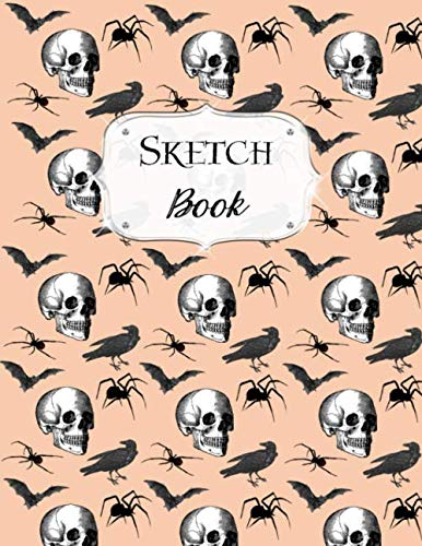 Sketch Book: Halloween | Sketchbook | Scetchpad for Drawing or Doodling | Notebook Pad for Creative Artists | #4 | Skull Bat Spider -