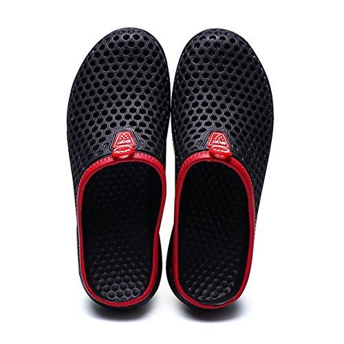 welltree - Zapatillas de estar por casa de Material Sintético para hombre negro
