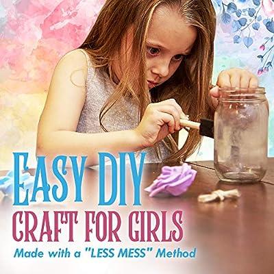 Kid Labsters Fairy Night Light Kit - Fun DIY Fairy Tale Lantern Tool Set - Battery Powered Glass Orb/Jar Lights - Kid's Craft & Portable Dim Lamp for Bedroom & Nursery: Toys & Games