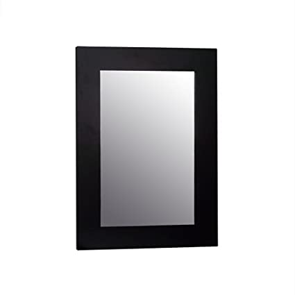Elegant Home Fashions Chatham Collection Framed Beveled Edge Glass Mirror,  Dark Espresso