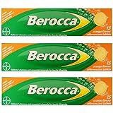 3 pack Berocca Performance 15 Orange Flavor Effervescent Tablets Vitamin B C Calcium Magnesium & Zinc Freeshipping