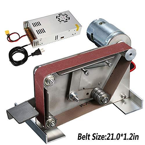 KKmoon Multifunctional AC 110-240V Grinder Mini Electric Belt Sander DIY Polishing Grinding Machine Cutter Edges Sharpener