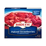 Birds Eye Deluxe Halved Strawberries in Syrup, 10 Ounce -- 12 per case.