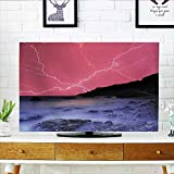 Protect Your TV Bolts WithSky Like Solar Lights Phenomenal Pink Grey Protect Your TV W36 x H60 INCH/TV 65''