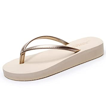 Sandalen Hausschuhe Frau Sommer- Clip-Zeh Flache Schuhe Mode Rutschfeste Gummisohle
