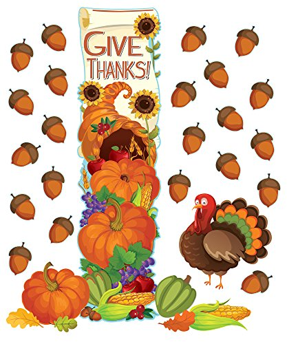 EUREKA Thanksgiving School and Classroom Door Décor Kit, 32pc