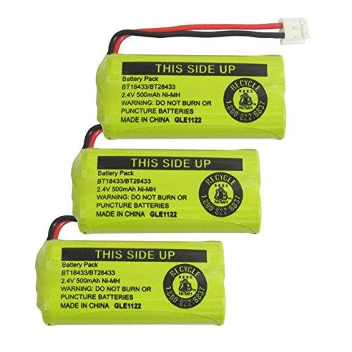 Phone Battery Telephone Batteries (Geilienergy Rechargeable Battery For AT&T and Vtech Phones BT-8300 / BATT-6010 / BT18433 / BT184342 / BT28433 / BT284342 / 89-1326-00-00 / 89-1330-01-00 / CPH-515D (Pack of)
