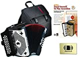 Hohner Panther 3100FB Diatonic Accordion Comprehensive Starter Kit with Gig Bag, Instruction Book and Cleaning Cloth