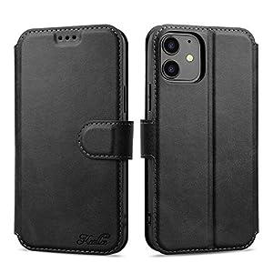 Keallce iPhone 12/12 Pro Housse, Etui en Cuir PU Portefeuille iPhone 12 Coque avec Fente Carte, Fermeture Magnétique und…