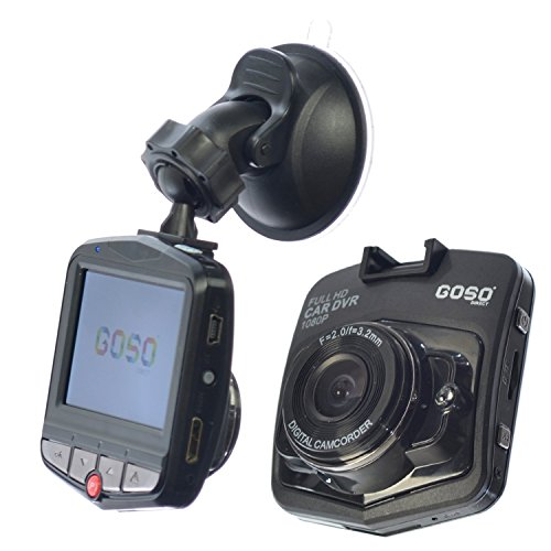 GOSO Vehicle Black Box DVR LCD 170 Angle Lens Night Vision Motion and Shock Sensors Dashboard HD Camera, 1080P, 2.5-Inch