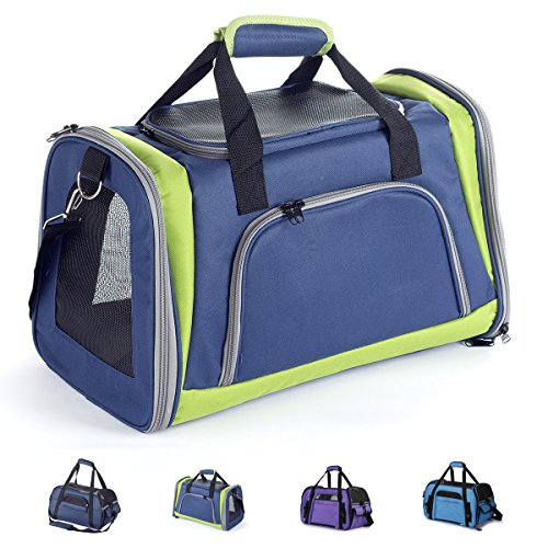 Zedelmaier Faltbare Hundetasche, Hundetragetasche, Katzentragetasche, Transporttasche Transportbox für Hunde und Katzen…