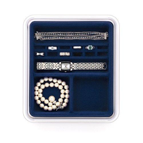 Neatnix Stax Jewelry Rings & Things Organizer Tray, Midnight Blue ()