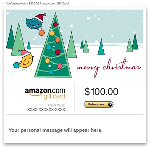 Amazon eGift Card - Merry Christmas (Birds)
