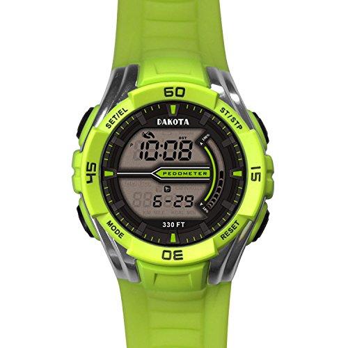Dakota Pedometer Watch Lime