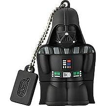 KIDdesigns USB 2.0 Flash Drive, 16GB, Star Wars Darth Vader, Black, LYU16CVFXV6
