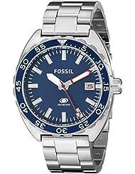 Fossil Men's Breaker FS5048 Silver Stainless-Steel Quartz Watch
