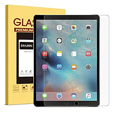 "SPARIN iPad Pro 12.9 Screen Protector, [Multi-Touch Compatible] [.3mm / 2.5D Round Edge] [Tempered Glass] [Bubble-Free] Screen Protector for iPad Pro 12.9"" by SPARIN"