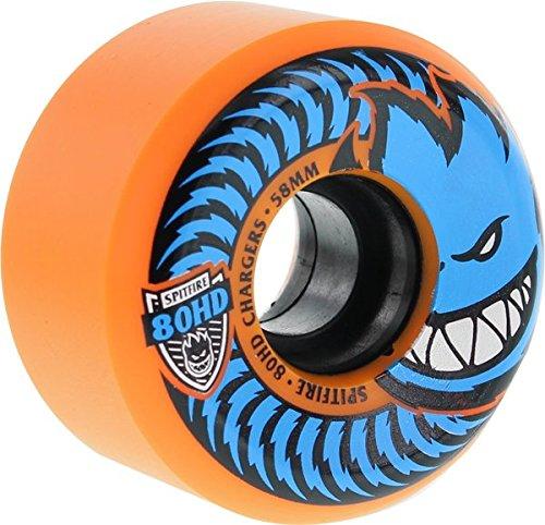 落胆させる自分の力ですべてをする踏みつけSpitfire 80hd充電器円錐形58 mmオレンジ/ Blu -スケートボードホイール( Set of 4 )
