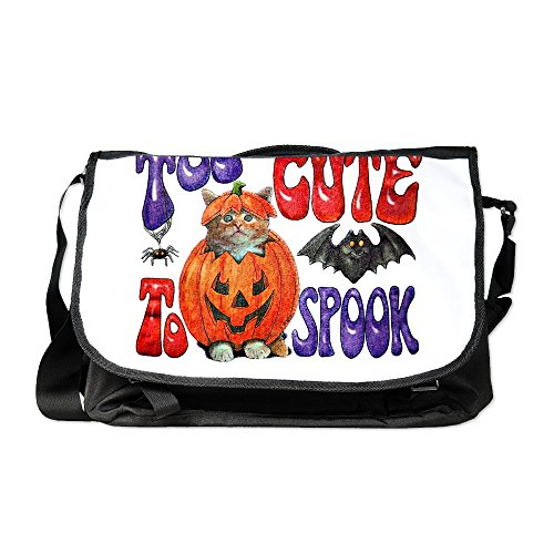 Royal Lion Laptop Notebook Messenger Bag Halloween Pumpkin Kitten Spider