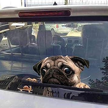 pug car window decal Dog