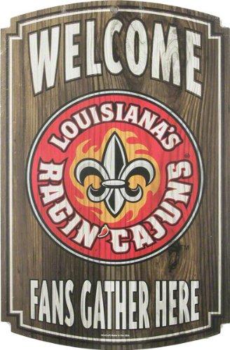 Wincraft Lousiana Lafayette Ragin Cajun Wood Sign