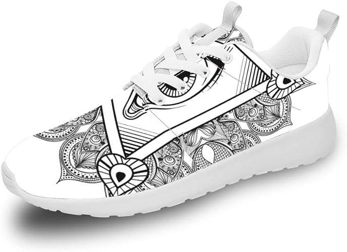 Mesllings Zapatillas de Running Unisex con un Ojo Especial, Ligeras, para Deportes al Aire Libre: Amazon.es: Zapatos y complementos