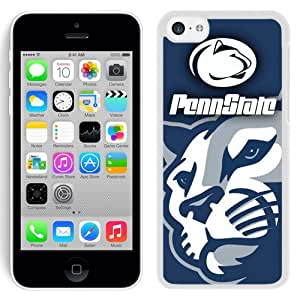 Fashionable And Unique Designed With Ncaa Big Ten Conference Football Penn State Nittany Lions 10 Protective Cell Phone Hardshell Cover Case For iPhone 5C Phone Case Black