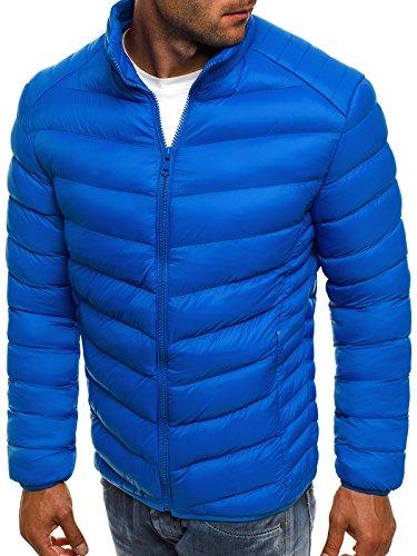 de 514k Capucha Chaqueta J Invierno Hombres 3056 Chaqueta Style Cuero de con js Vaquera Chaqueta para Jacket ku Chaqueta Azul Mix OZONEE wvzqPv