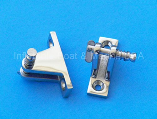 Inflatable Boat & Marine USA Bimini Top Deck Hinge - Fitting/Hardware- Removable Pin Stainless Steel - 2 Each (Pair)