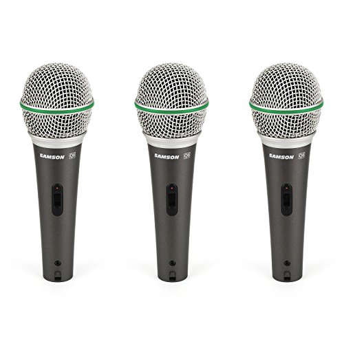 Samson Q63P | Dynamic Supercardioid Handheld Mic 3 Pack (Supercardioid Microphone Vocal Handheld)