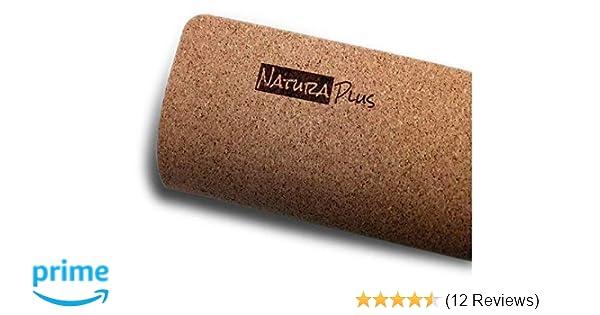 "Natura Plus Cork Yoga Mat (71"" x 26"" x 3mm Thick) + Free Carrying Strap | Premium, Non-Slip, Eco-Friendly, Natural Tree Rubber, Non-Toxic, Durable, ..."