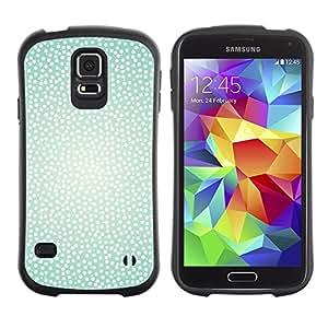 Suave TPU GEL Carcasa Funda Silicona Blando Estuche Caso de protección (para) Samsung Galaxy S5 / CECELL Phone case / / Teal Happy Light Snow Cute /