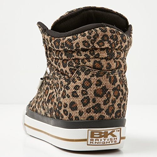 Sneakers Alte Da Donna Dei Cavalieri Britannici, Beige Leopardo, Stampa Leopardo Beige 41 Eu