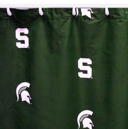 Michigan State Spartans Shower Curtain Cover Plus a Matching Window Curtain Valance By Bundling! (Michigan Spartans State Shower Curtain)