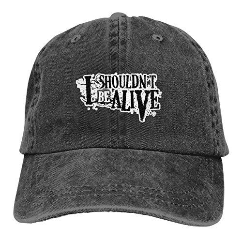 Fengxiaolihat I Shouldn't Be Alive Plain Stonewashed Cotton Adjustable Hat Low Profile Baseball Cap Black